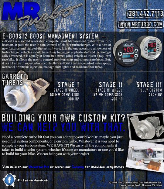 MR  Turbo: July Turbo Specials | Dragbike com