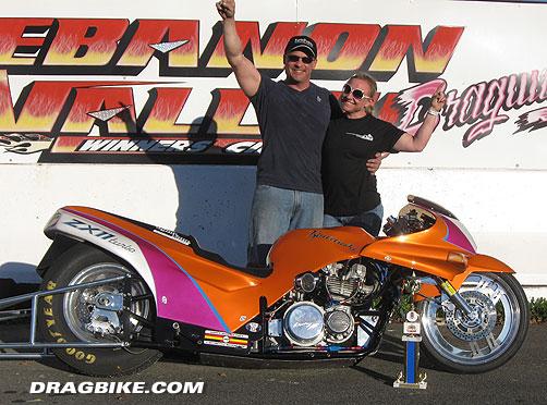 Outlawdragbike com 1 qualifier in pro comp tony steele