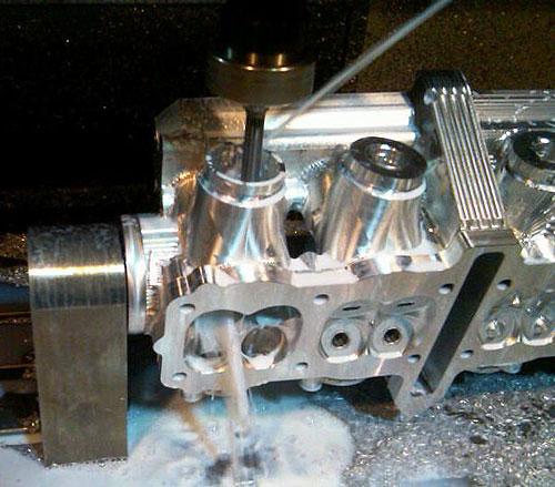 Billet Cylinder Heads : Star racing billet valve cylinder head dragbike