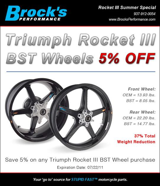 Brock's Performance: Triumph Rocket III BST Wheels on Sale