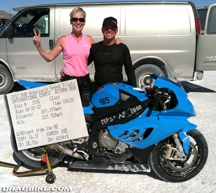 another world and national record for bmw motorcycles | dragbike