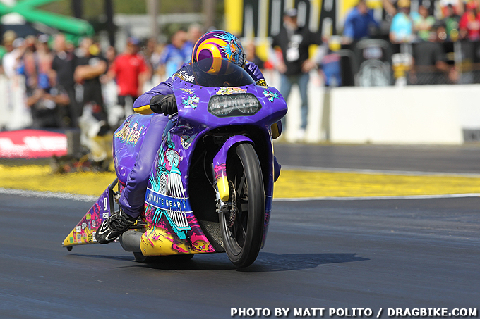 Le Tonglet NHRA Pro Stock Motorcycle