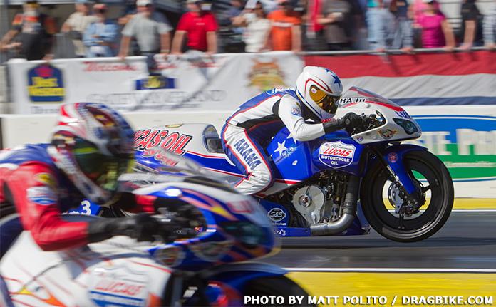 Hector Arana NHRA Pro Stock Motorcycle