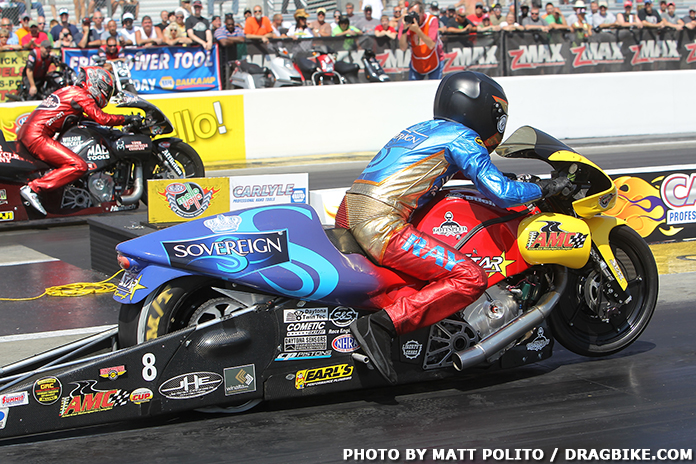 zMax Dragway NHRA Pro Stock Motorcycle Results | October 15, Racing at his home track, zMax Dragway, Matt Smith used the NHRA Carolina Nationals as a chance to make up for past mistakes and put himself back in a position to win the NHRA Pro Stock Motorcycle championship.
