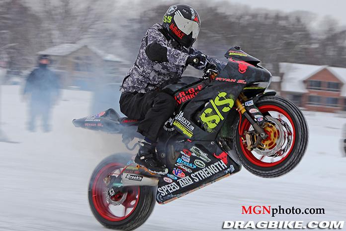 ryan Suchanek Gunness book of world records wheelie on ice