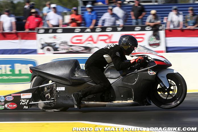 Steve Jsohnson NHRA Pro Stock Motorcycle