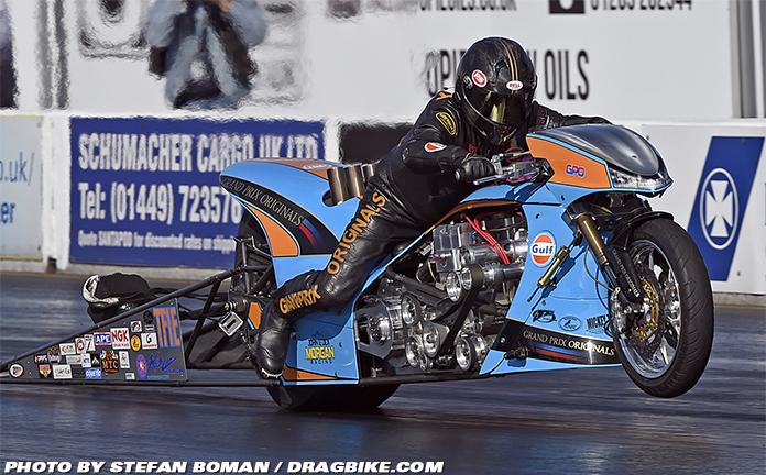 Ian King Gulf Oil Drag Racing