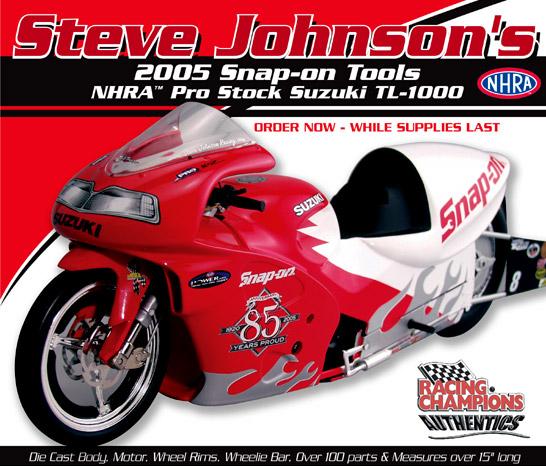 Steve Johnson: 2005 NHRA Pro Stock Motorcycle Diecast ...