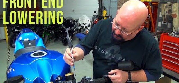 2017 Suzuki GSX-R1000 | Episode 9 / Part 2- Dragstrip Prep – Front End Lowering