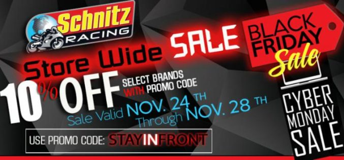 Schnitz Racing : Cyber Monday Sale 10% OFF