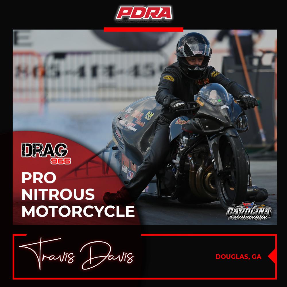 Drag965 Pro Nitrous Motorcycle Winner - Travis Davis