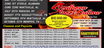 Southern Street Outlaw NT Series add two Motorcycle Classes