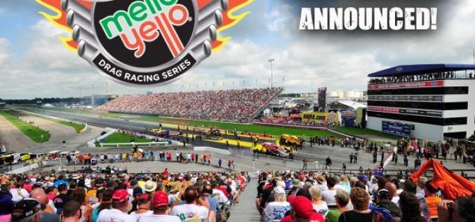 NHRA : Mello Yello 2016 Drag Racing Schedule Announced