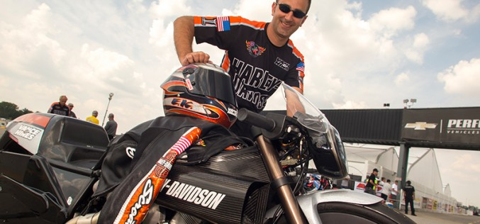 Harley V-Rod Racers Lead Pro Stock Motorcycle Field Heading Into NHRA Playoffs