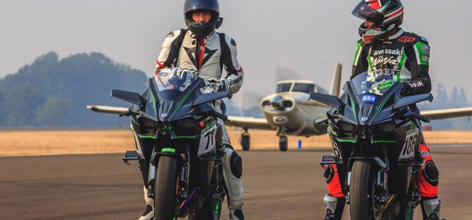 Gadson and the Kawasaki Ninja H2R Fastest at Airstrip Attack