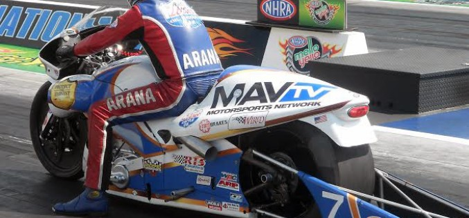 Aranas exit NHRA Carolina Nationals in first round