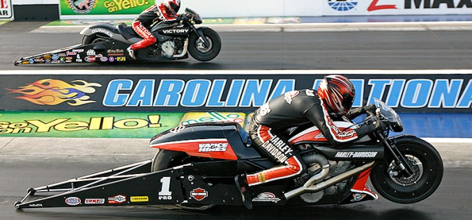 Harley-Davidson V-Rod Powers Hines To Nhra Countdown Lead