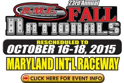 IDBL : DME Racing Fall Nationals Rescheduled to October 16-18th