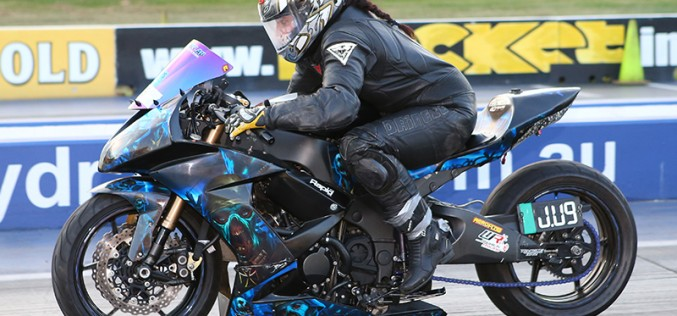 ANDRA : Bride to be racing to the altar at Sydney Dragway
