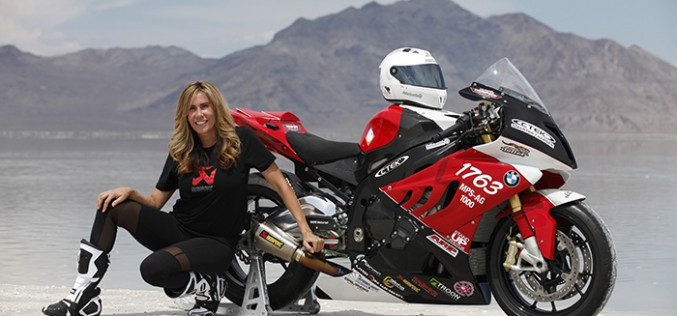 Land Speed Motorcycle Racer Seeks to Become Fastest Female Motorcyclist at El Mirage Dry Lake