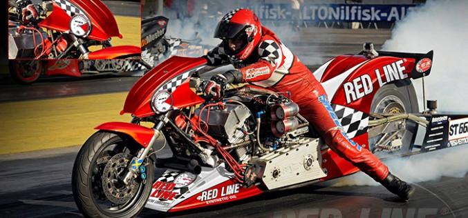 Red Line Oil primary sponsor for the Beast Drag Bike Team