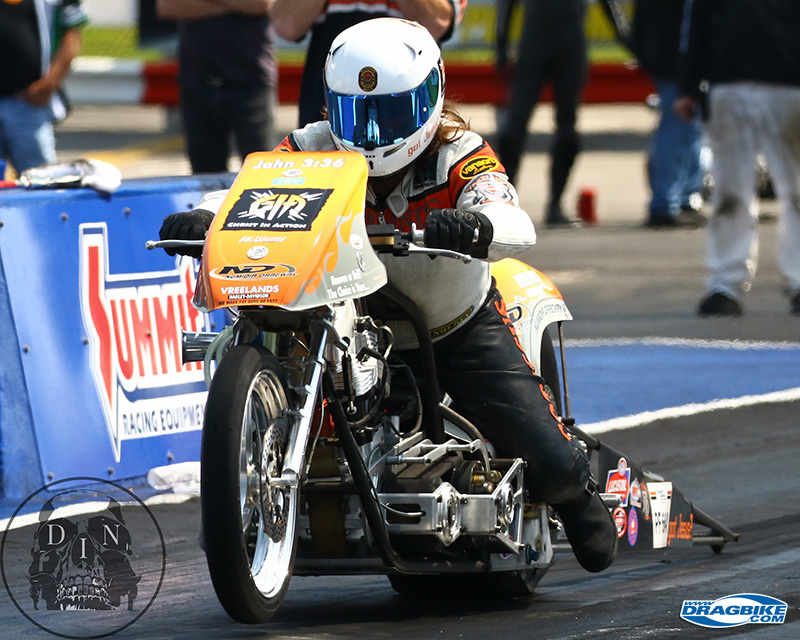 Rich Vreeland had a blessed weekend of racing with the fuel bikes.
