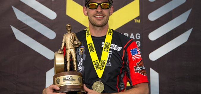 Harley-Davidson V-Rod Rockets Hines to NHRA Win in Chicago