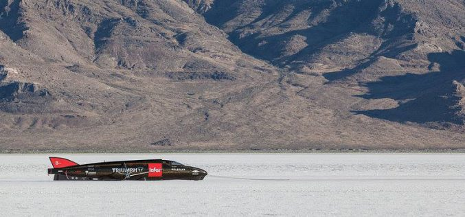 The Carpenter Racing Triumph Rocket returns to Bonneville