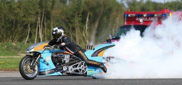 Ian King's Top Fuel Motorcycle Breaks FIM World Speed Record