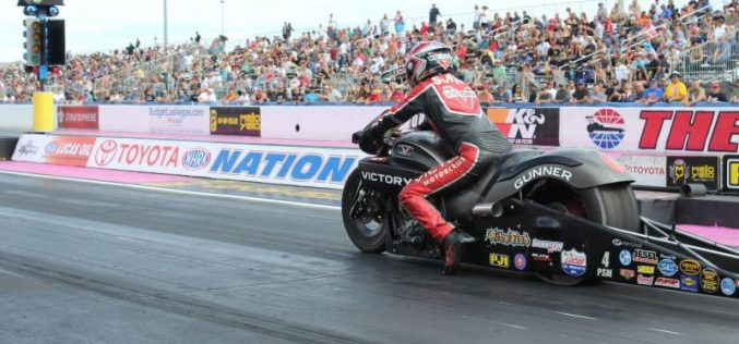 Matt Smith hopes V is for victory with his Victory Motorcycle in Vegas