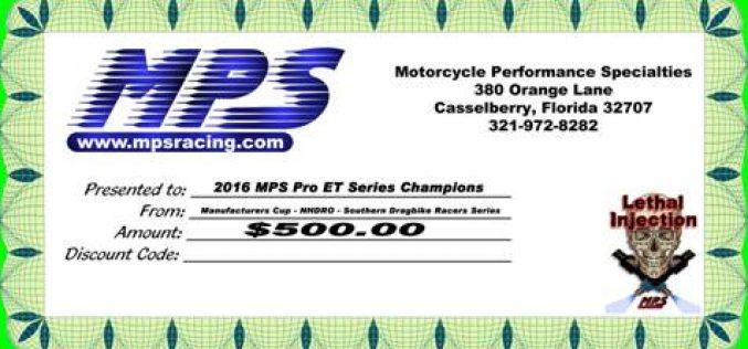 MPS Pro ET Series Champions Collect $500 Bonus!