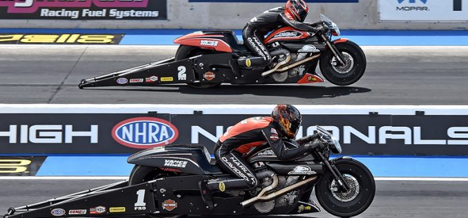 Hines and Krawiec Prepare Harley Screamin' Eagle Pro Stock Drag Bikes for Championship Battle at NHRA Finals