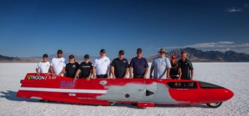 """World Speed Record Attempt by Team """"7"""" Racing and Valerie Thompson"""
