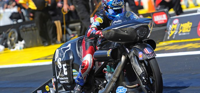 Rough Start Has Pro Stock Motorcycle Champ Angelle Focused on Southern Nationals