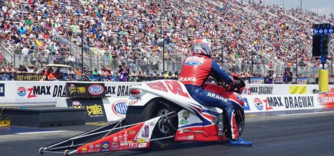 Pro Stock Motorcycle champ Hector Arana Sr. takes aim at sponsor's newest race