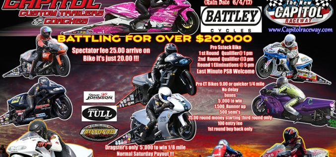 The First ever U.S. Pro Stock Motorcycle Open