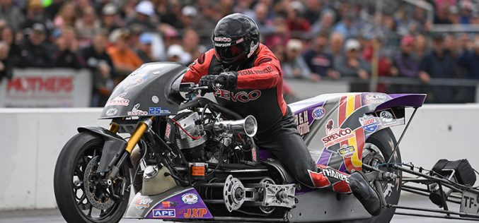 NHRA Nitro Harley : Results from New England Dragway