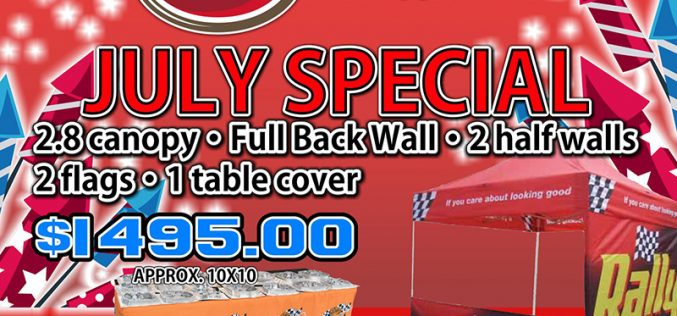 Portable Shade : July Special on Canopy Combos