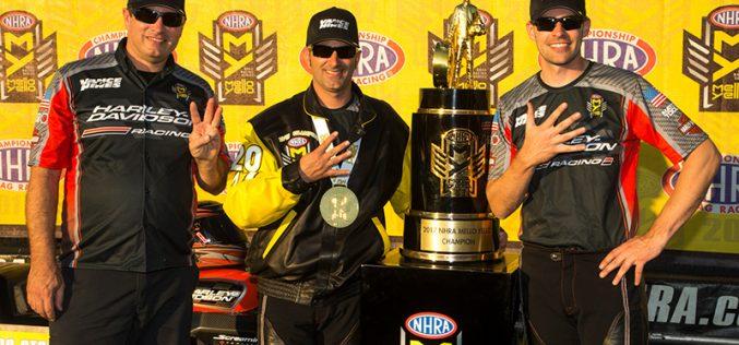 Krawiec Clinches fourth NHRA Mello Yello Pro Stock Motorcycle Championship
