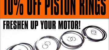 MTC: 10% OFF Piston Rings