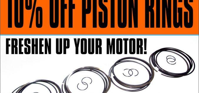 MTC: 10% OFF Piston Rings