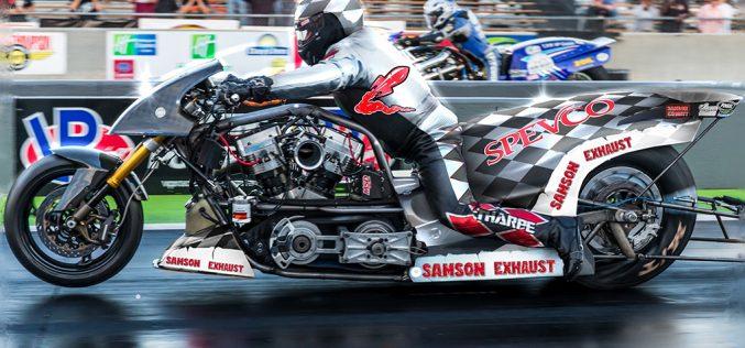 Samson Exhaust helping power NHRA Top Fuel Harley champ Tii Tharpe