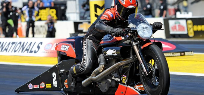 NHRA: Pro Stock Motorcycle Champion Eddie Krawiec Focused on 200 MPH