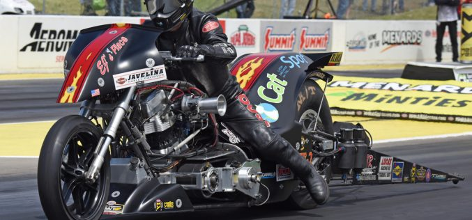 Top Fuel Harley rider Rickey House already has his hands full in New England