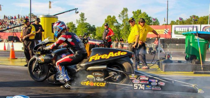 Cory Reed and Angelle Sampey head to Route 66 Raceway