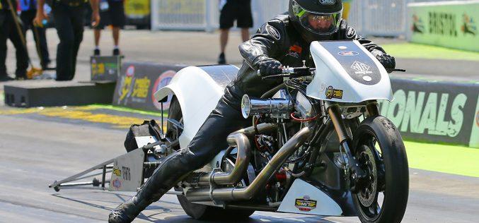 NHRA: Top Fuel Harley rider Beau Layne Crashes at Northwest Nationals