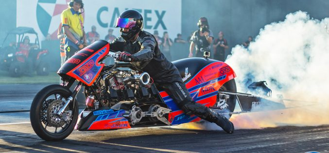 Nitro Harley racer Benny Stevens putting life into words