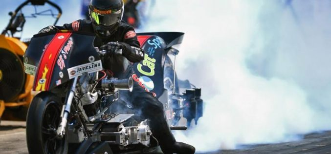 Top Fuel Harley rider Rickey House thrilled for his first U.S. Nationals