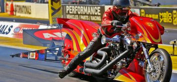 Chris Smith Rides for PTS Racing during 2019 Top Fuel Harley Season