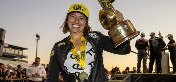 NHRA: Jianna Salinas scores first win in incredible Pro Stock Motorcycle season finale